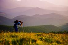 Professional Photographer Journey Through The Mountains.