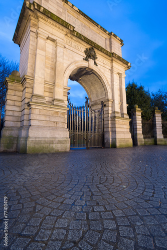 Fusiliers' Arch, Stephen's Green, Dublin City Poster