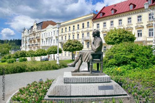 plakat J. W. Goethe statue, spa Marianske lazne, Czech republic