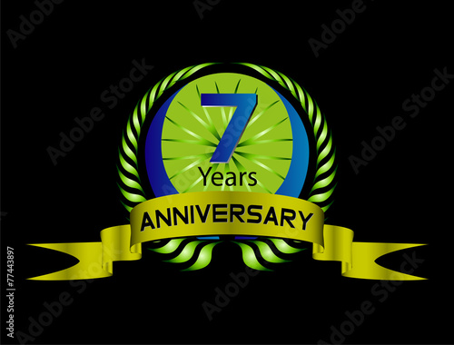 Poster  7 years Celebration Anniversary label