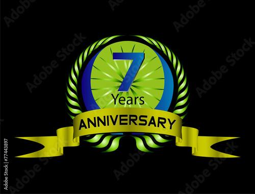 Fotografia  7 years Celebration Anniversary label