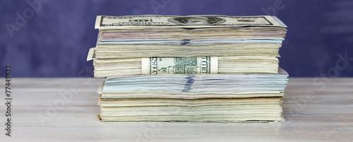 Fotografie, Obraz  Thick stack of US cash