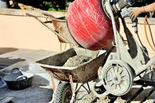 Man Making Cement