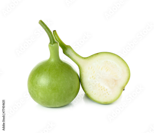 Calabash, Bottle Gourd isolated on white background Wallpaper Mural