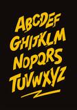 Fototapeta Młodzieżowe - Graffiti comics style font. Vector alphabet