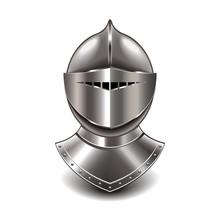 Medieval Knight Helmet Isolate...
