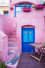 Colorful facade, Collioure, France