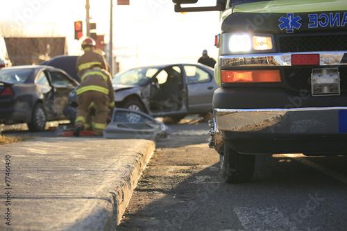Photo Accident ambulance transport hospital