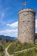 Burg Husen, Bergfried, Hausach, Schwarzwald, Baden-Württemberg,