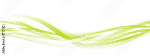 Wall Murals Abstract wave wellen grün banner hintergrund
