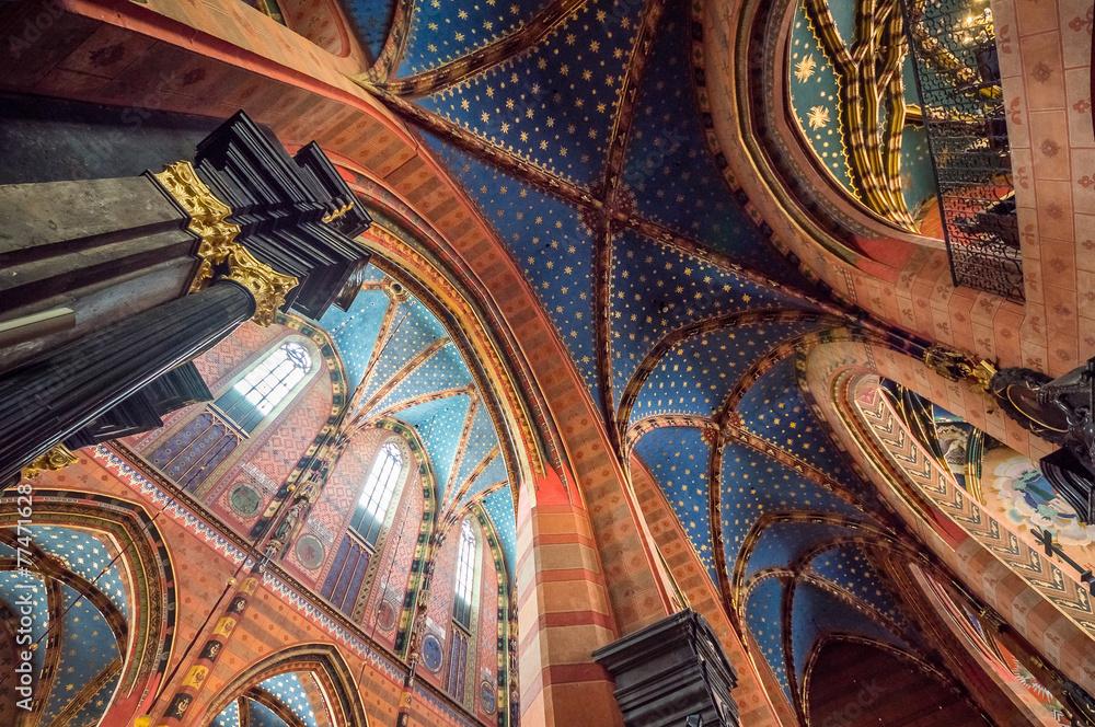Fototapety, obrazy: St. Mary's Basilica, Kraków, Poland