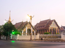 Wat Phra That Chang Kham In Morning Mist