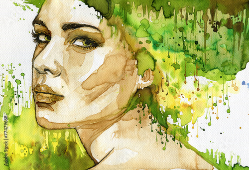 Recess Fitting Painterly Inspiration green woman