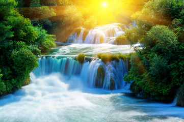 Panel Szklany Waterfalls Krka