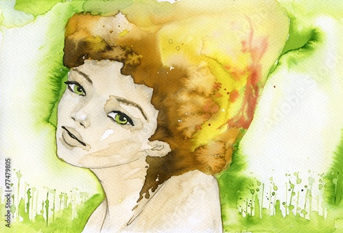Canvas Prints Painterly Inspiration woman