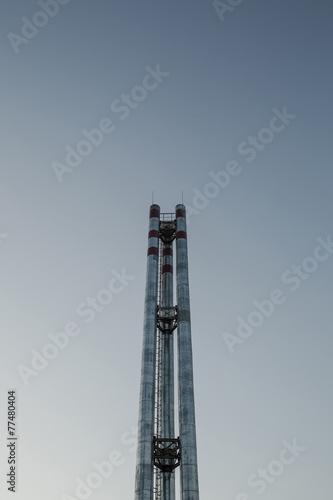 Staande foto Industrial geb. Industrial pipes