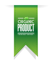 Organic Product Banner Sign Il...