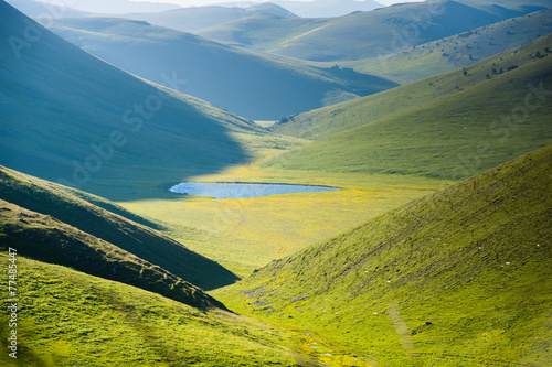 landscape view of  Campo Imperatore plateau abruzzo italy Fototapeta