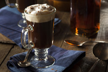 Homemade Irish Coffee With Whi...