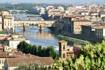 Fototapeta na wymiar Blick vom Piazzale Michelangelo nach Florenz - Firenze - Italien