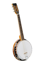 The Image Of White Banjo Isolated