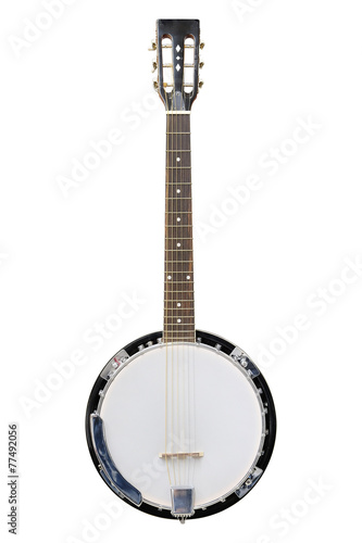 Cuadros en Lienzo The image of white banjo isolated