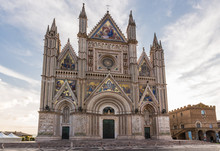 Medieval Cathedral In Orvieto, Umbria, Italy