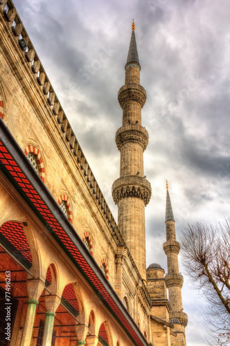 Plagát  Minarets of the Sultan Ahmet Mosque in Istanbul - Turkey