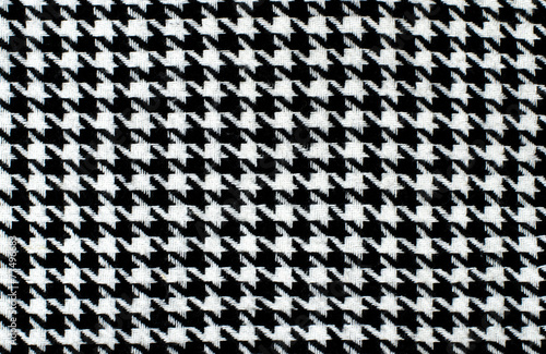 Black and white houndstooth pattern. Dogstooth check design. Poster Mural XXL