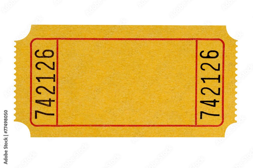 Fotografía Blank yellow ticket