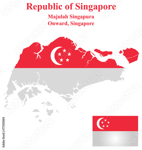 Photo  Flag of the Republic of Singapore