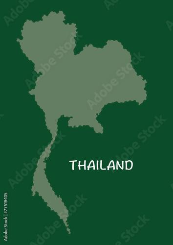 Thailand map in green, Thailand map, Thailand vector - Buy ...