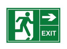 Exit Sign, Exit Way, Exit Vector