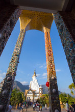 Temple, Wat Pra That Pha Son Keaw Decorated Ceramic In Thailand
