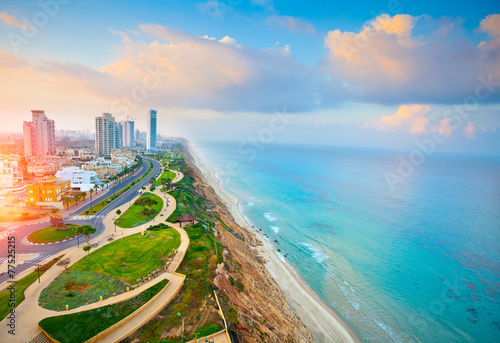 Panoramic view of Netanya city, Israel