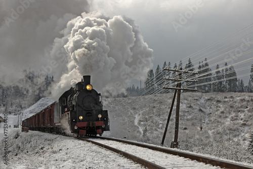 Obraz na płótnie Old steam train