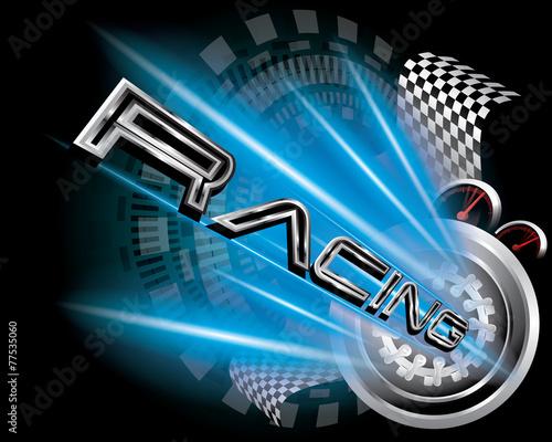 RACING CONCEPT VECTOR - 77535060