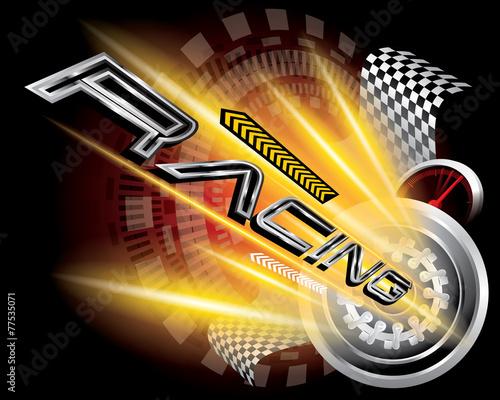 RACING CONCEPT VECTOR - 77535071