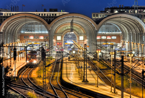 Foto op Canvas Treinstation bahnhof in kiel