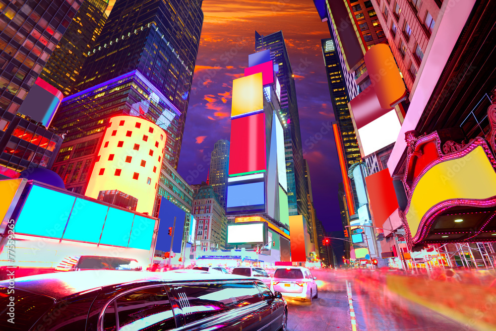 Fototapety, obrazy: Times Square Manhattan New York deleted ads