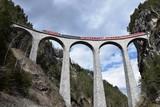 Wiadukt Landwasser w Alpach