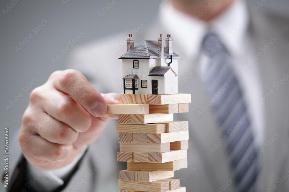 Fototapeta Housing market risk