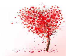 Valentine Background With Hear...