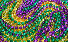 Colorful Mardi Gras Beads Back...