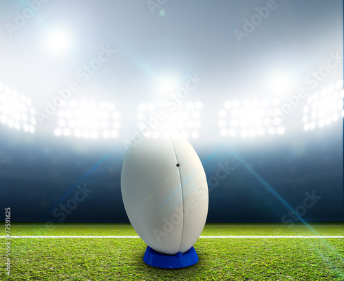 Papiers peints Rugby Stadium And Ball