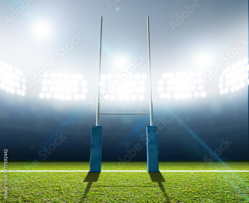 Papiers peints Rugby Stadium And Posts