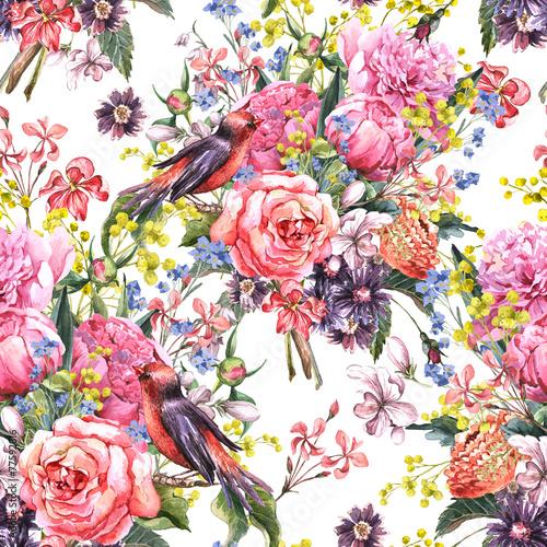 bezszwowe-kwiatowy-tlo-akwarela