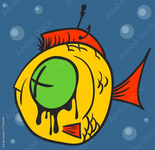 Dead Fish Graffiti - 77600441