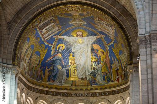 fototapeta na szkło Bazylika Sacre Coeur na Montmartre, Paryż, Francja