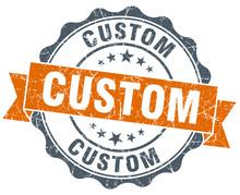 Custom Orange Vintage Seal Iso...